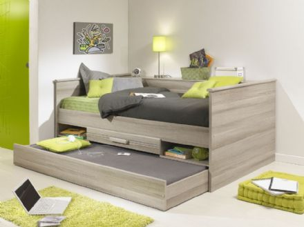 Montana Grey Oak Day Bed with Trundle Drawer